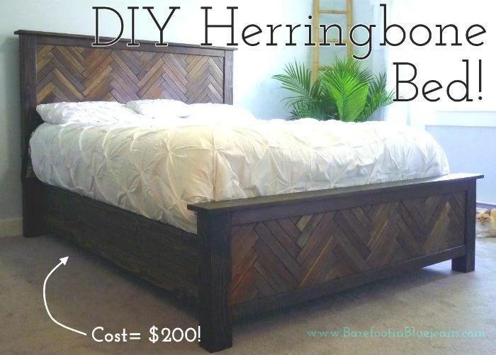 diy-queen-herringbone-bed