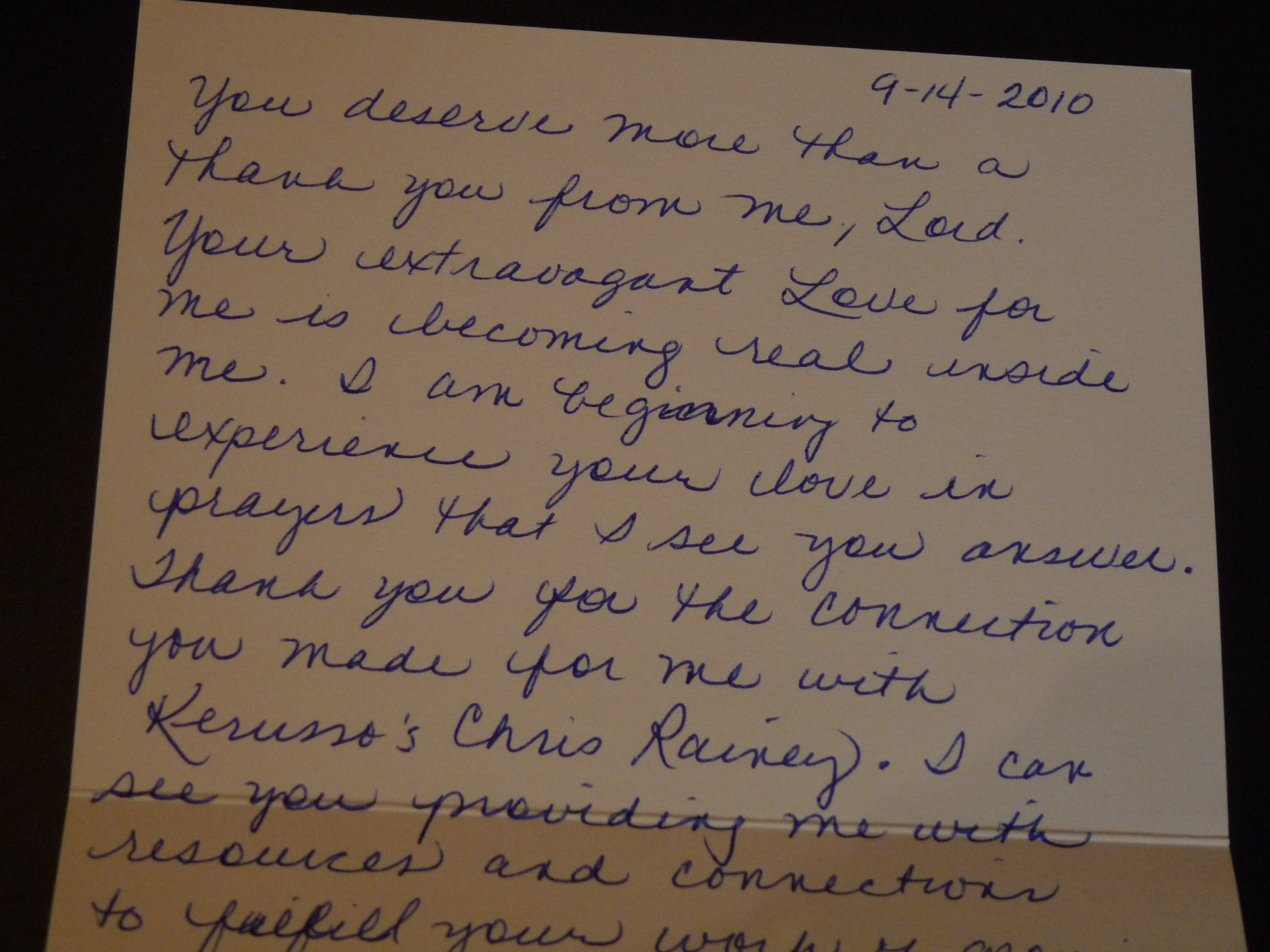 Thank You Note! Response To Extravagant Gifts
