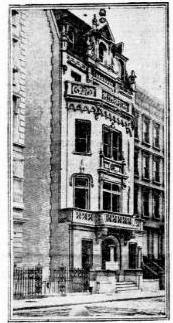 Sketch of house. New York Tribune August 31, 1902 (copyright expired)