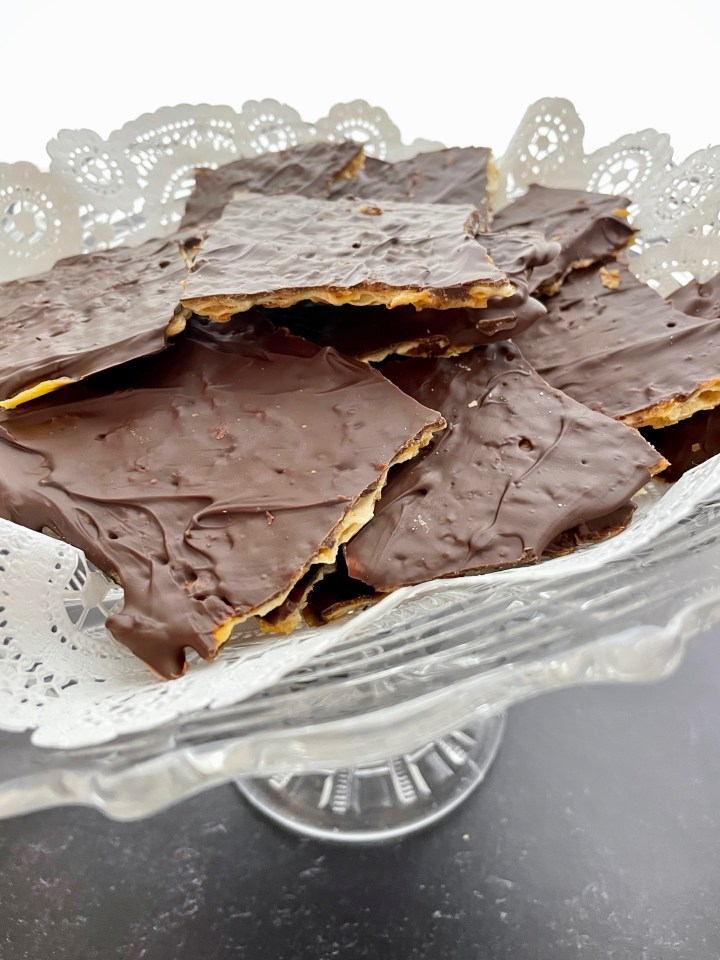 Chocolate-Caramel Matzo