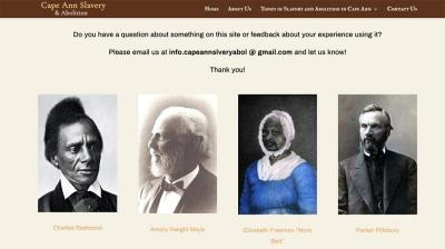 contact page for cape ann slavery website