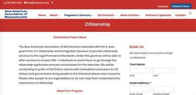 NAC Citizenship classes