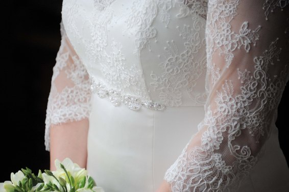 A Dream of June '16, Wedding Dress. Waist and sleeve details.