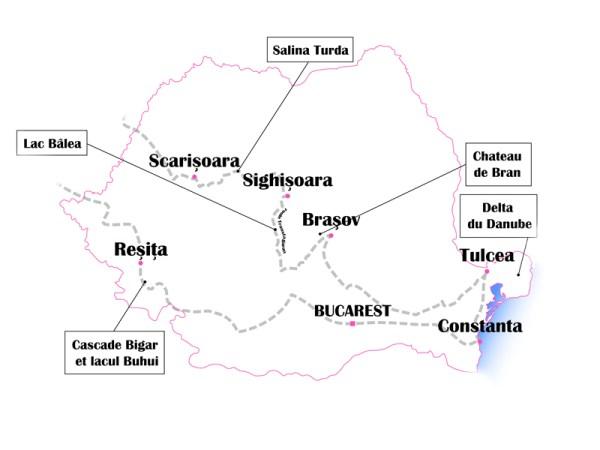 Roumanie itinéraire