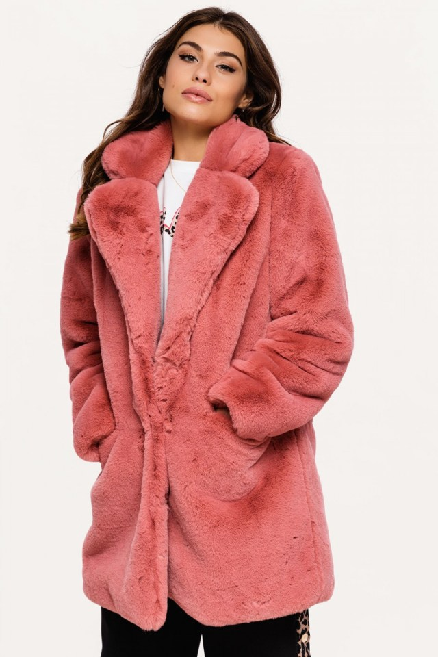 faux fur jas