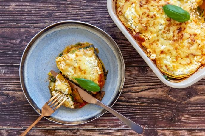 Groentelasagne met pompoen lasagnebladen