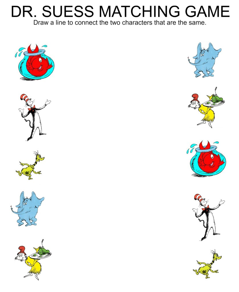 Dr Seuss Themed Worksheets For Preschoolers. Dr. Best Free