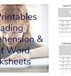Free Printables Reading Comprehension Sheets with 1st Grade Sight Words • [ 651 x 1324 Pixel ]