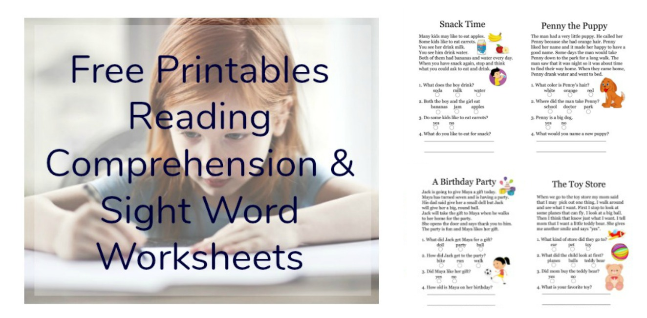 hight resolution of Free Printables Reading Comprehension Sheets with 1st Grade Sight Words •