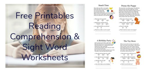 small resolution of Free Printables Reading Comprehension Sheets with 1st Grade Sight Words •
