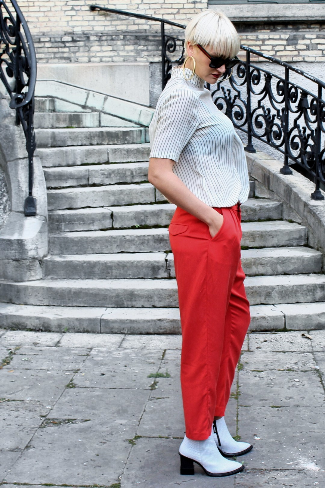 red trousers outfit inspiration