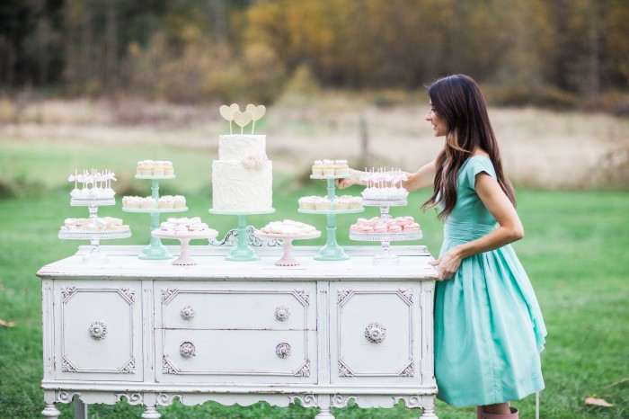 Rustic Dessert Table by Jenny Cookies- earlyivy.com