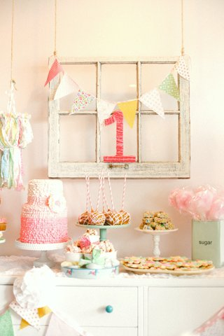 window pane over dessert table, window pane birthday party