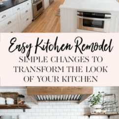 Easy Kitchen Remodel Hammered Nickel Sink Simple Changes To Transform The Look Of Your Jennycookies