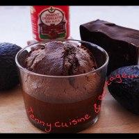 Moelleux Chocolat piment d'espelette sans beurre ( à l'avocat)