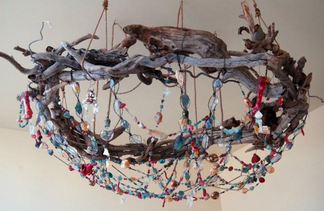 Bower Bird Nest Chandelier
