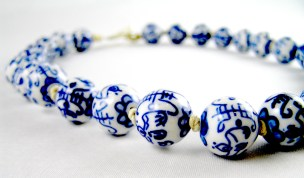 Chinese Porcelain Necklace
