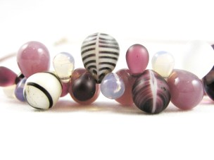 Purple African Trade Bead Necklace