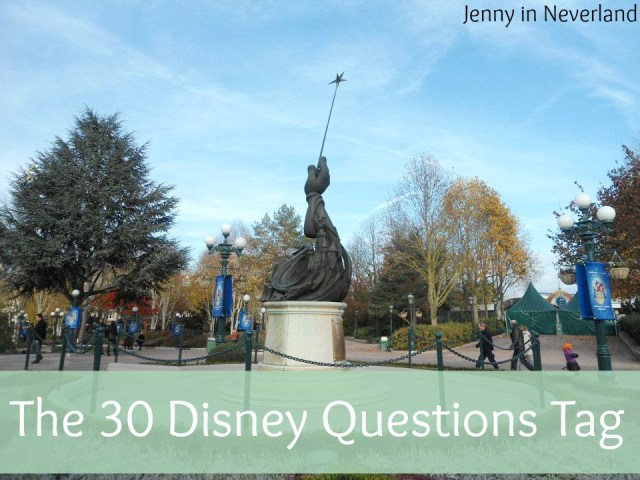 The 30 Disney Questions Tag