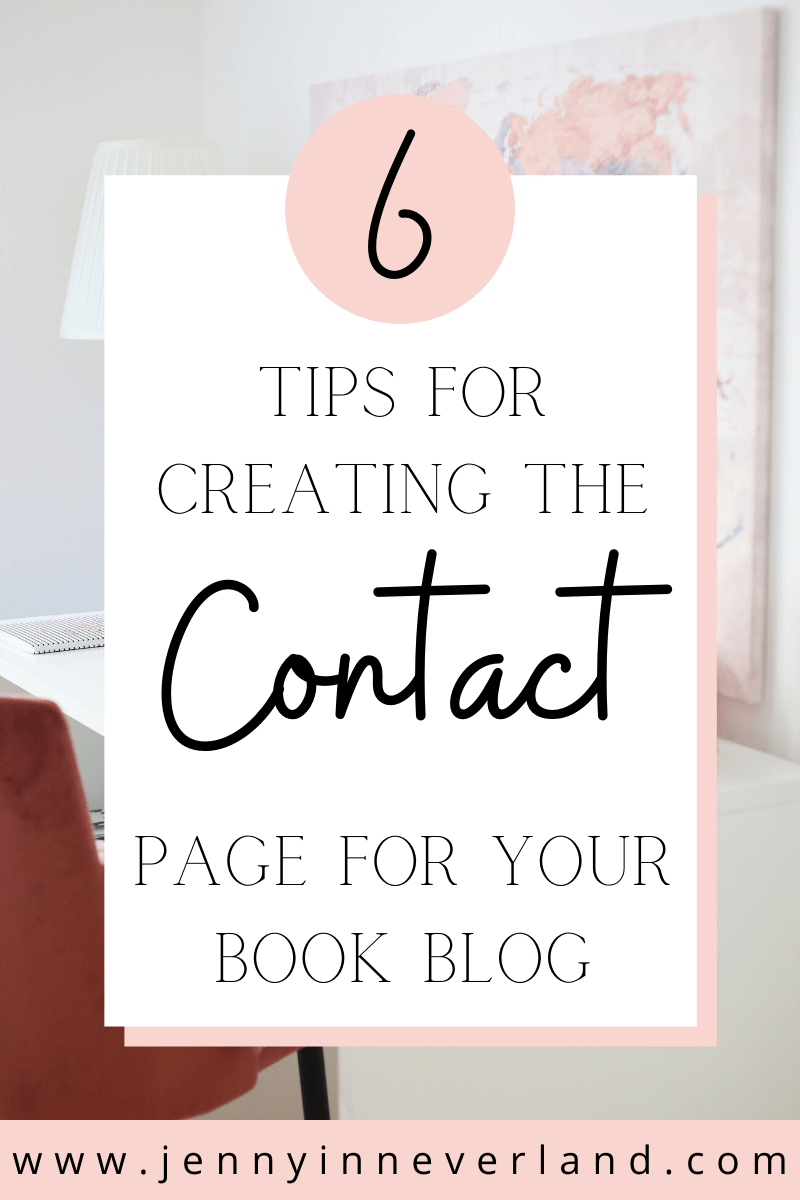 Book Blog Contact Page Tips