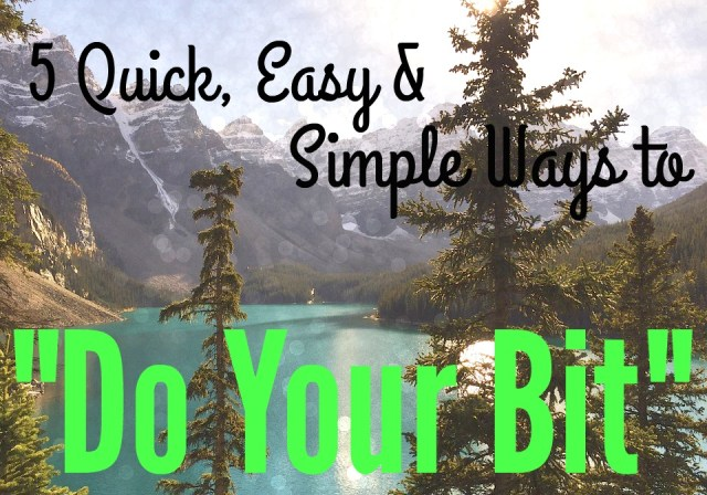 5-quick-easy-and-simple-ways-to-do-your-bit