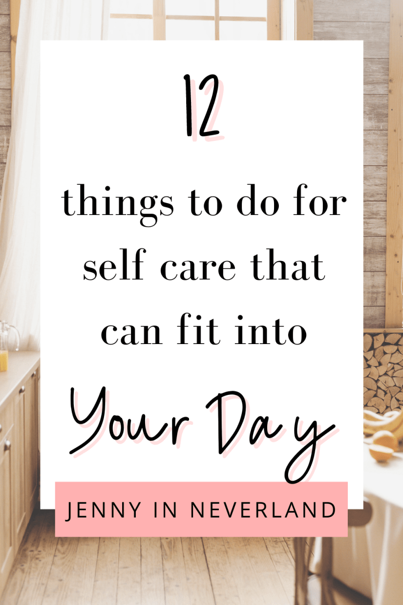 things to do for self care