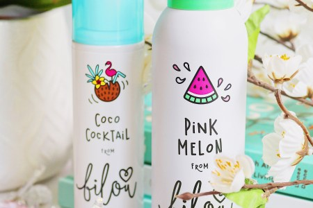 Vertical image for How to Prepare for Summer blog post featuring bilou Pink Melon Shower Foam and bilou Coco Cocktail Bodyspray products
