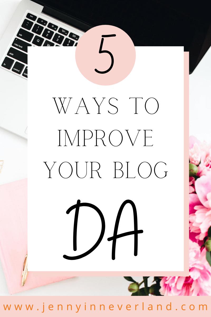How to improve your blog da score