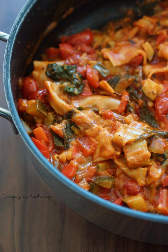 one-pot vegetable lasagna