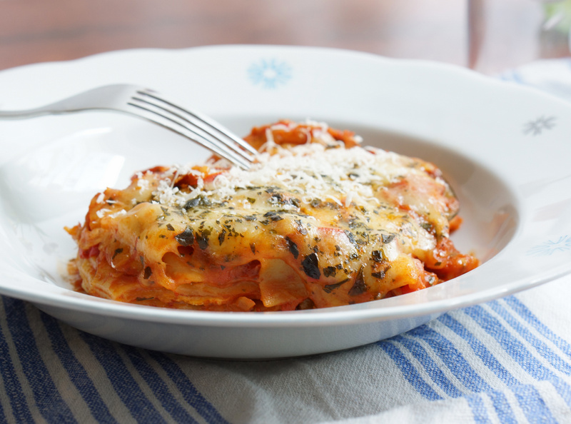One-pot vegetable lasagna