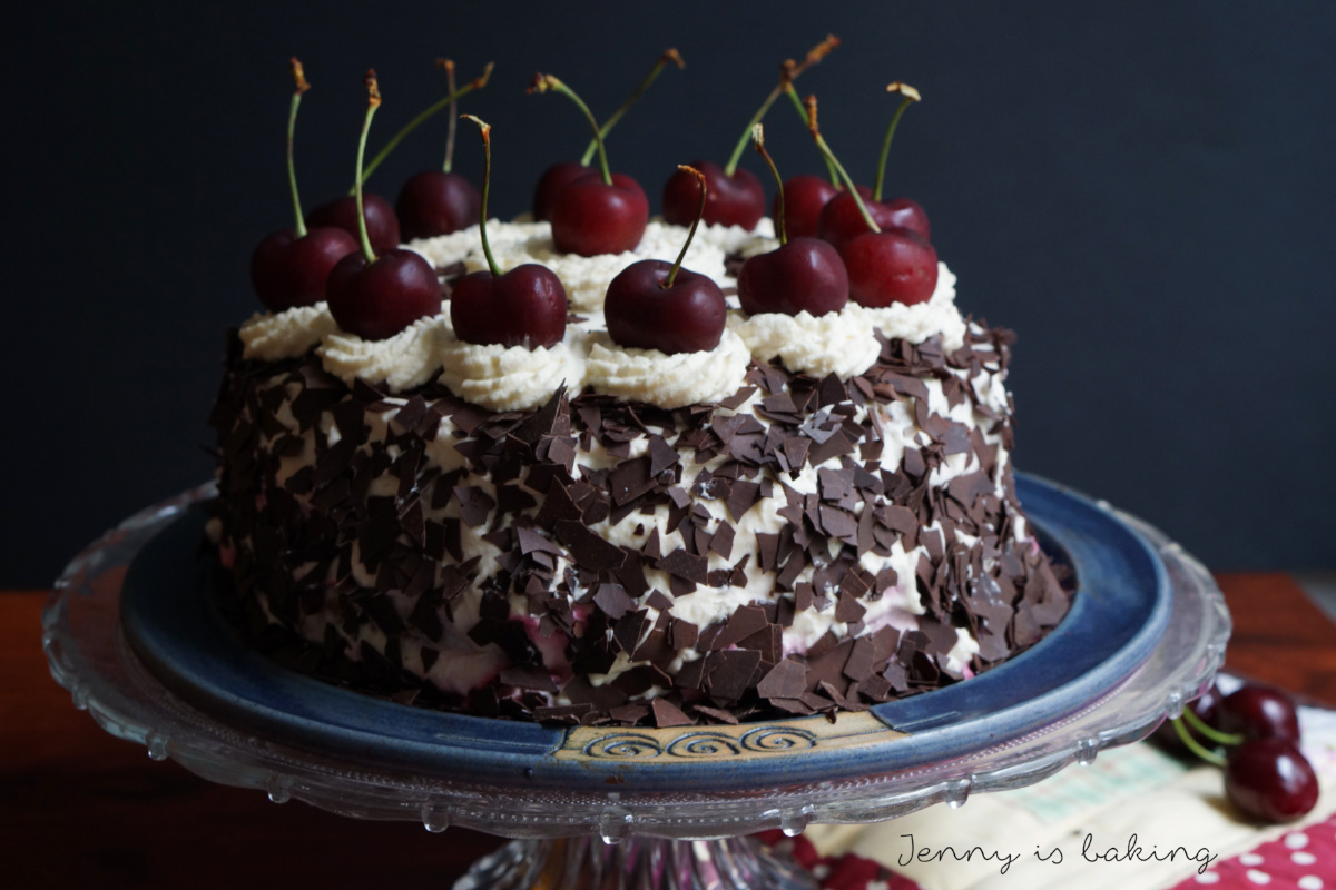 German Black Forest Cake Canned Cherries