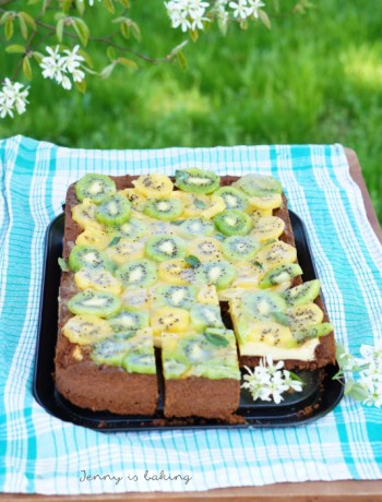 kiwi cream cheese cake
