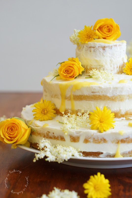 elderflower and lemon wedding cake