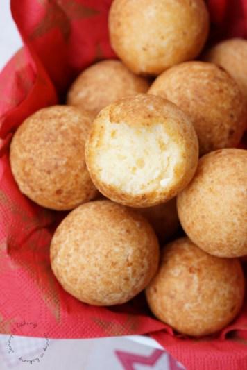 Kolumbianische buñuelos aka frittierte Käse-Teigbällchen (glutenfrei)