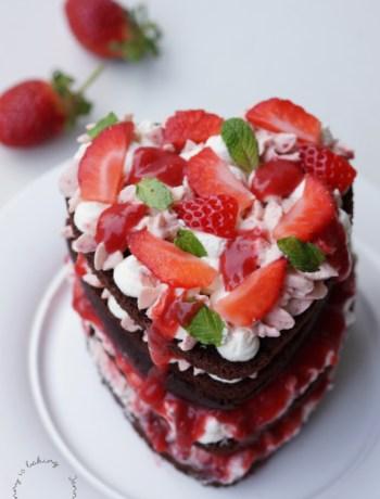 Erdbeer-Schokotorte