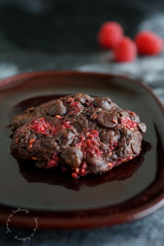 Himbeer-Schoko-Cookies