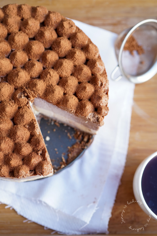 Eiskalter Kaffee-Cheesecake ohne backen
