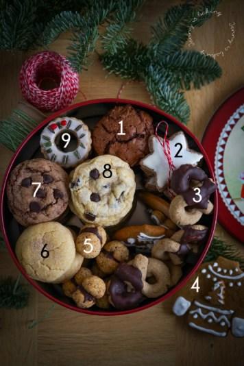 Gefüllte Keksdose zu Weihnachten