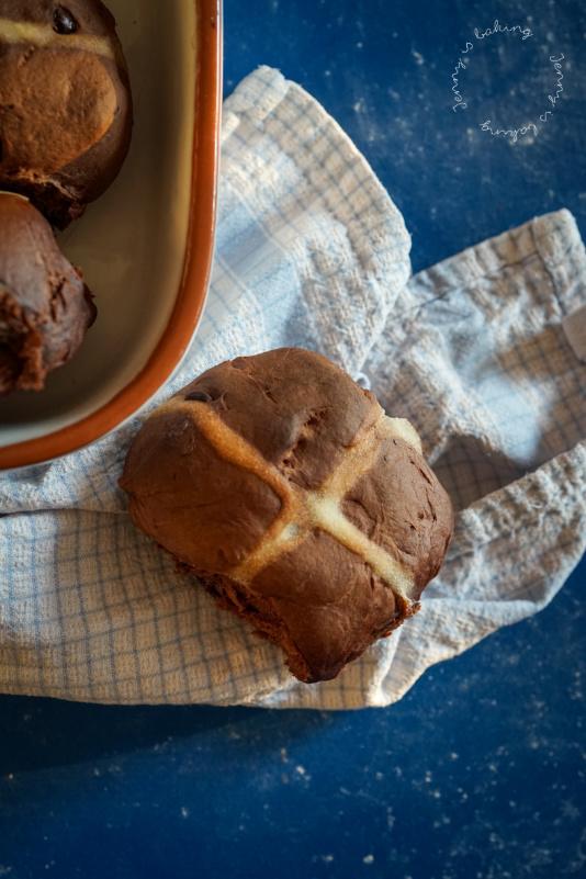 Schokoladige Hot-Cross-Buns