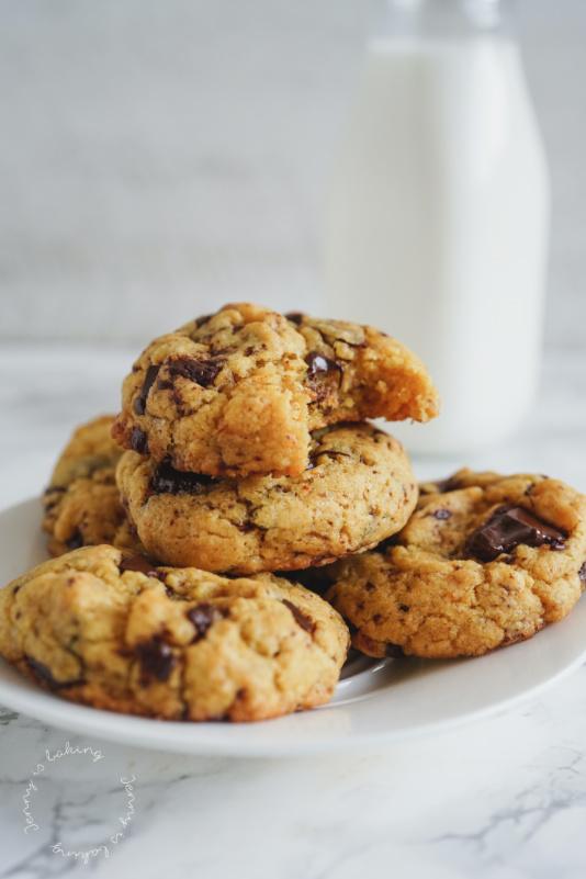 Vegane Kürbis-Schoko-Cookies