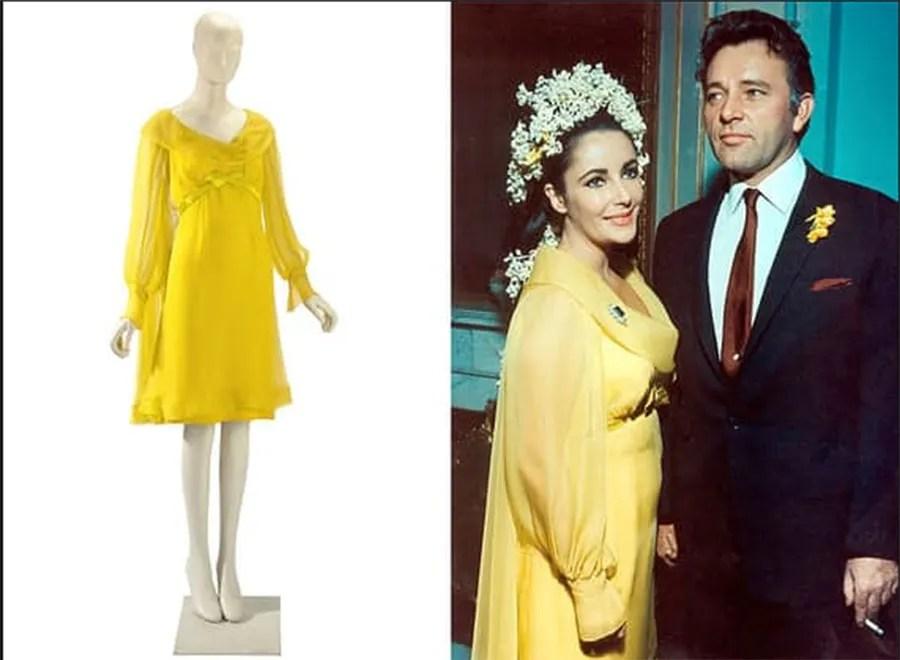 Colourful Wedding Dress Elizabeth Taylor Yellow Dress Jenny Lessin