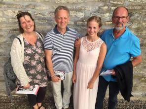 Med Karin Westberg, Anders Düring och Anders Peterson, lärare på musiklinjen på Vadstena folkhögskola