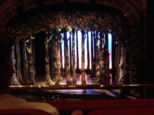 The preset for Act I of Cinderella.