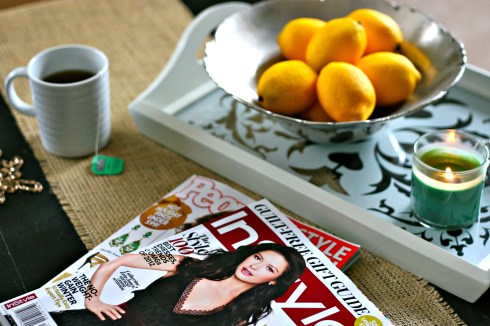 nookandsea-blog-pollinate-media-instyle-people-style-watch-magazine-target-promo-candle-lemons-bowl-silver-metal-white-tray-mug-tea-burlap-table-runner-coffee
