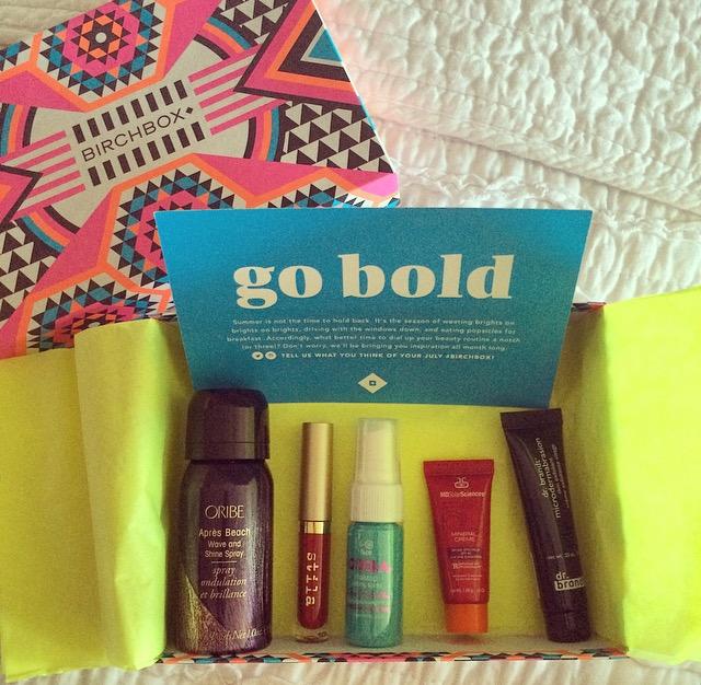 birchbox july 2015 beauty samples