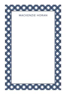 gingham notepad design darling
