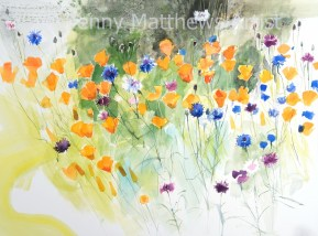 Marie's French Flowers, 56 x 76cm, watercolour on paper, framed price £1,850