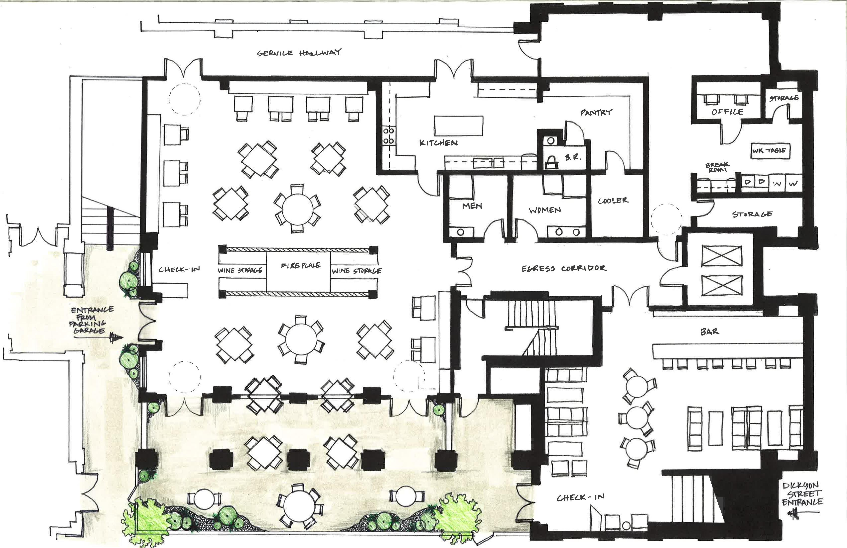 Designing A Restaurant Floor Plan  Home Christmas Decoration