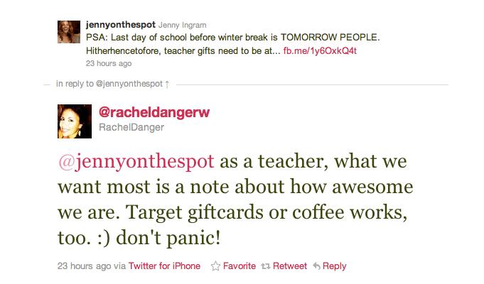 Twitter convo with RachelDanger