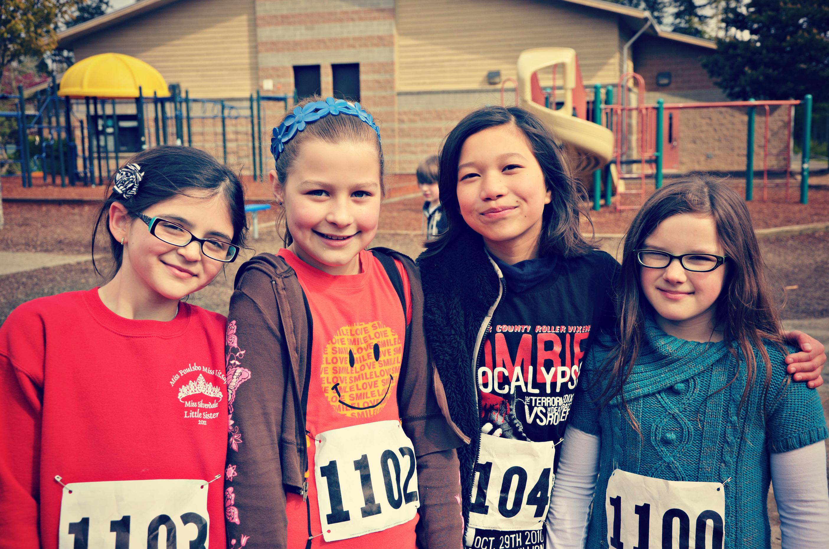 Livi and friends at school fun run